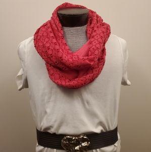 Magenta pink infinity scarf